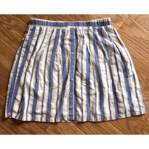 Ethereal Blue And White Striped Skirt